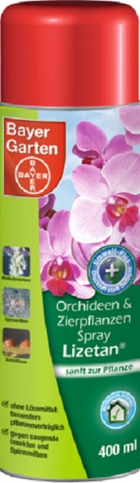 Bayer Orchidee und Zierplanzenspray Lizetan 400 ml