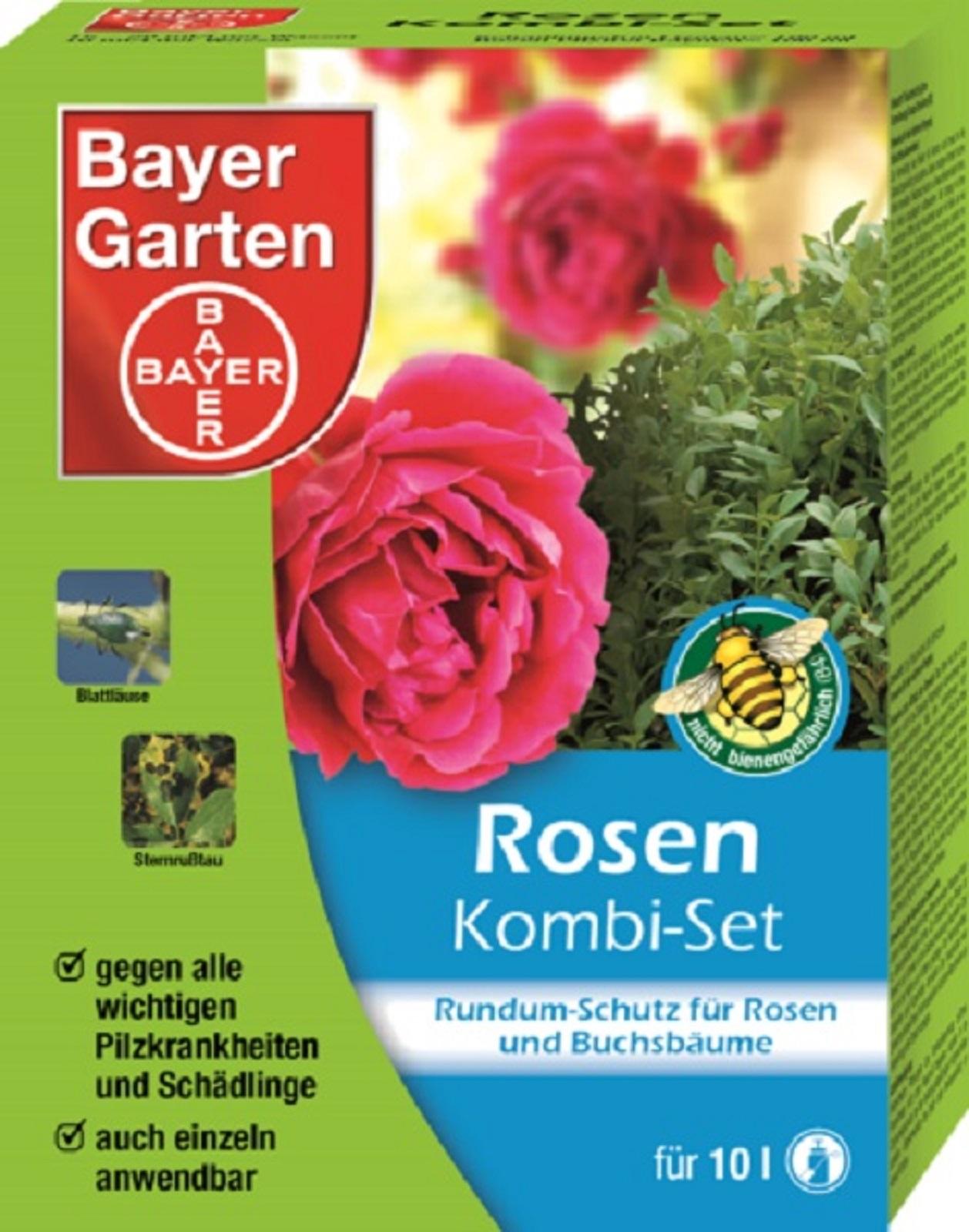Bayer Rosen Kombi Set  Pilzfrei 100 ml + Schädlingsfrei 30 ml auch f. Buchsbäume