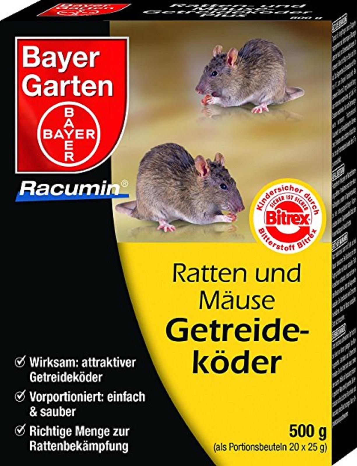 Bayer Ratten und Mäuse Portionsköder 250g in Portionsbeutel zu 25 Beutel a 10 g