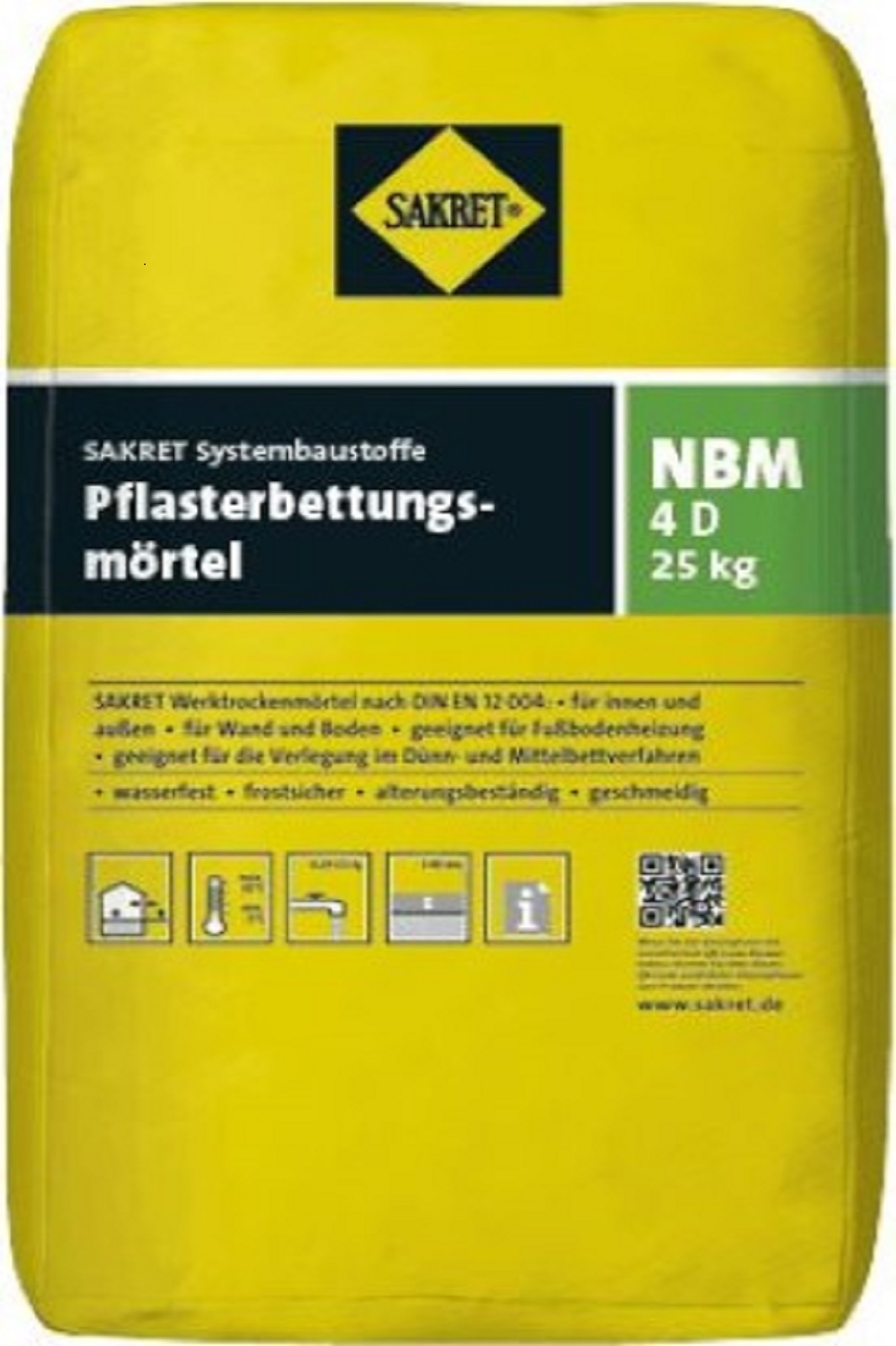 SAKRET Pflasterbettungsmörtel NBM 4 D 25kg