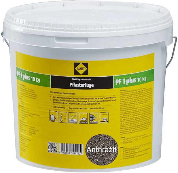 SAKRET Pflasterfugenmörtel PF1 plus anthrazit 10 kg
