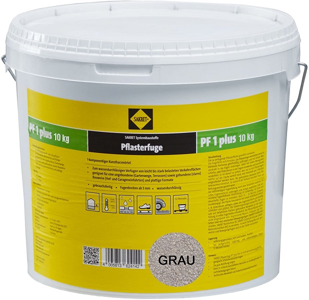SAKRET Pflasterfugenmörtel PF1 plus grau 10 kg