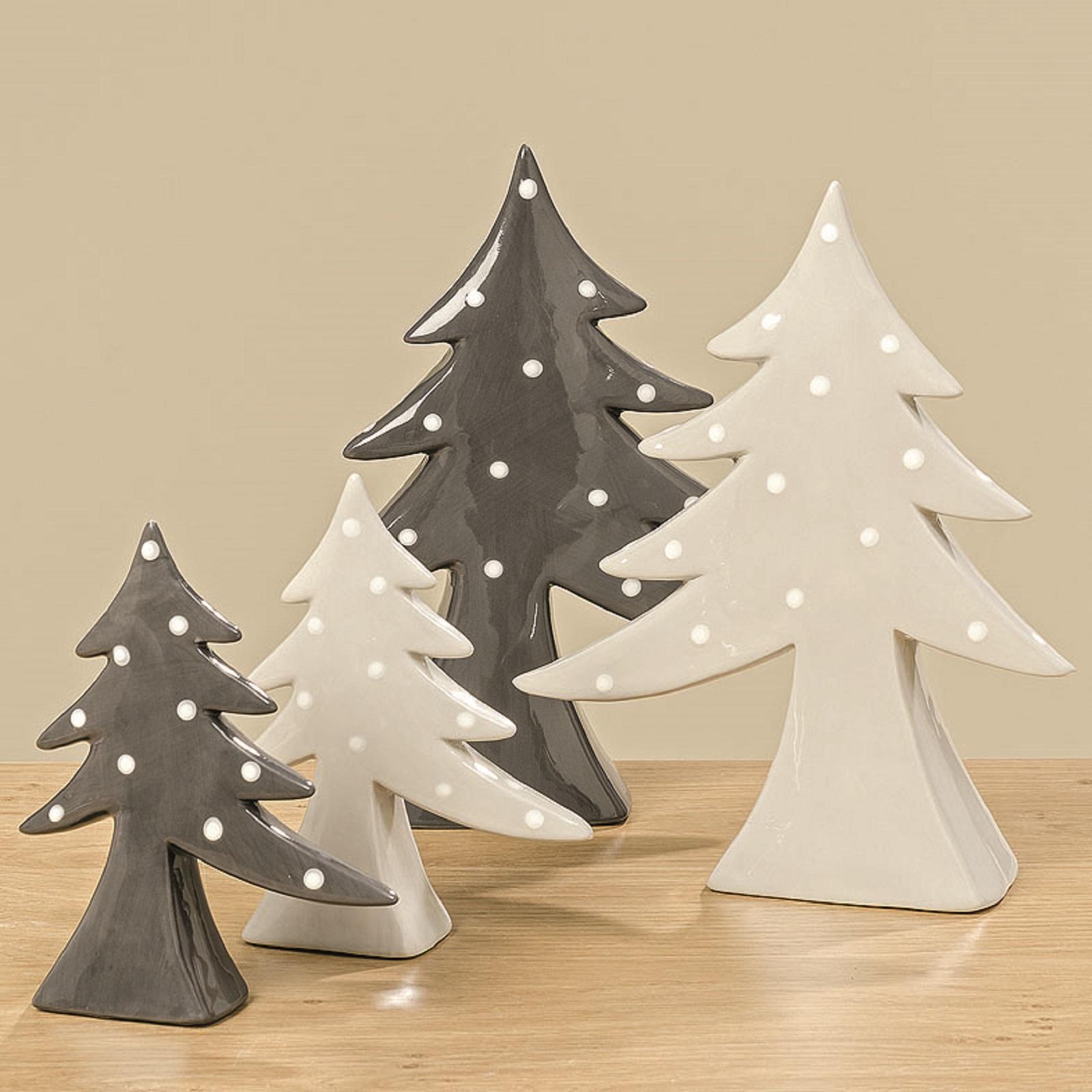 Baum Dekobaum Conner Dolomit grau weiß H 21 cm 2er Set