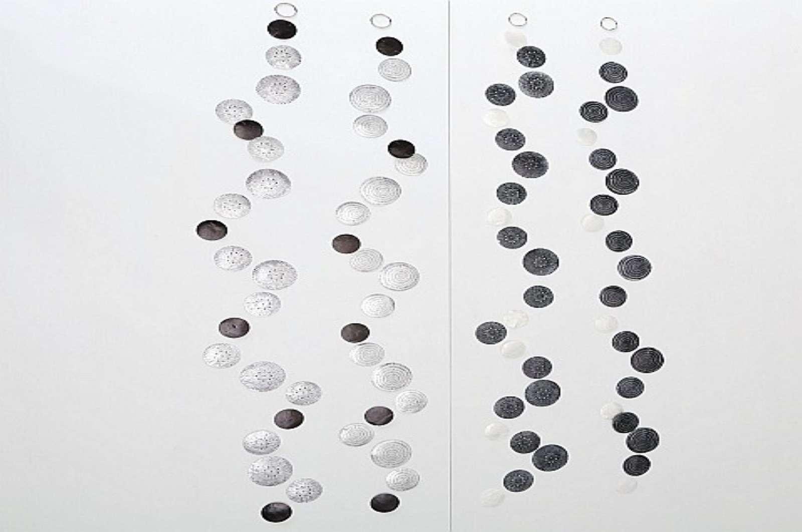 Capiz Girlande 4er-Set 2xhell+2xdunkel L:180cm