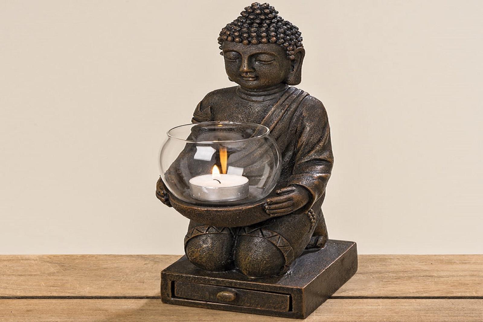 Windlicht Buddha H ca.30cm.