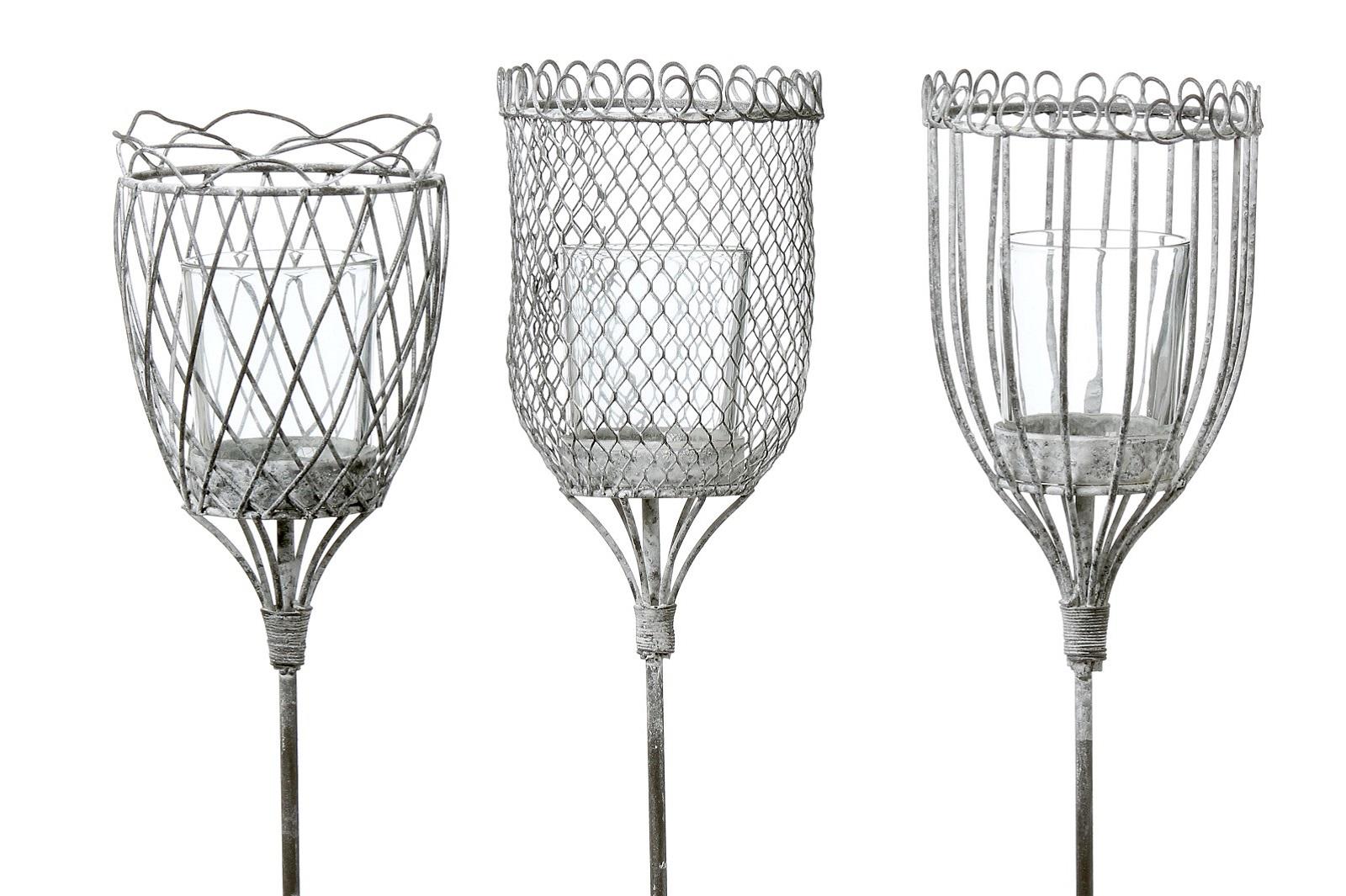 Windlicht Windlichthalter Teelichthalter Gartenstab Gartendeko 3 Ausführungen