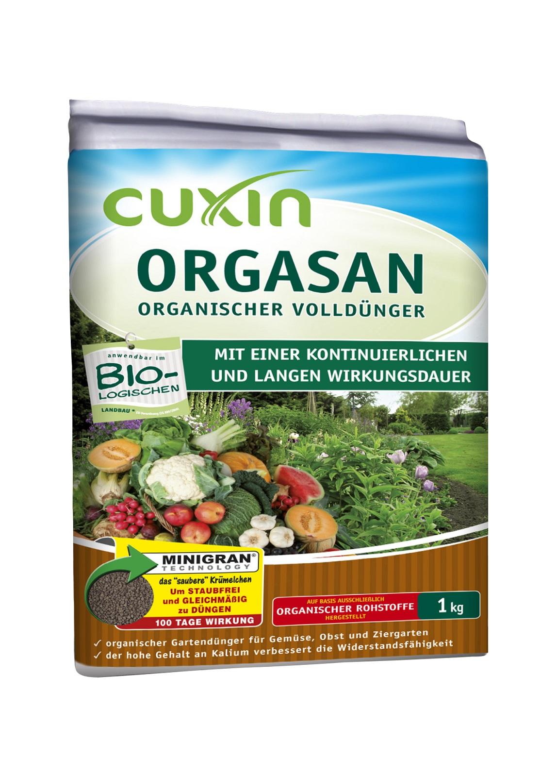 Cuxin Orgasan 1 kg organischer Volldünger Dünger Obst Gemüse