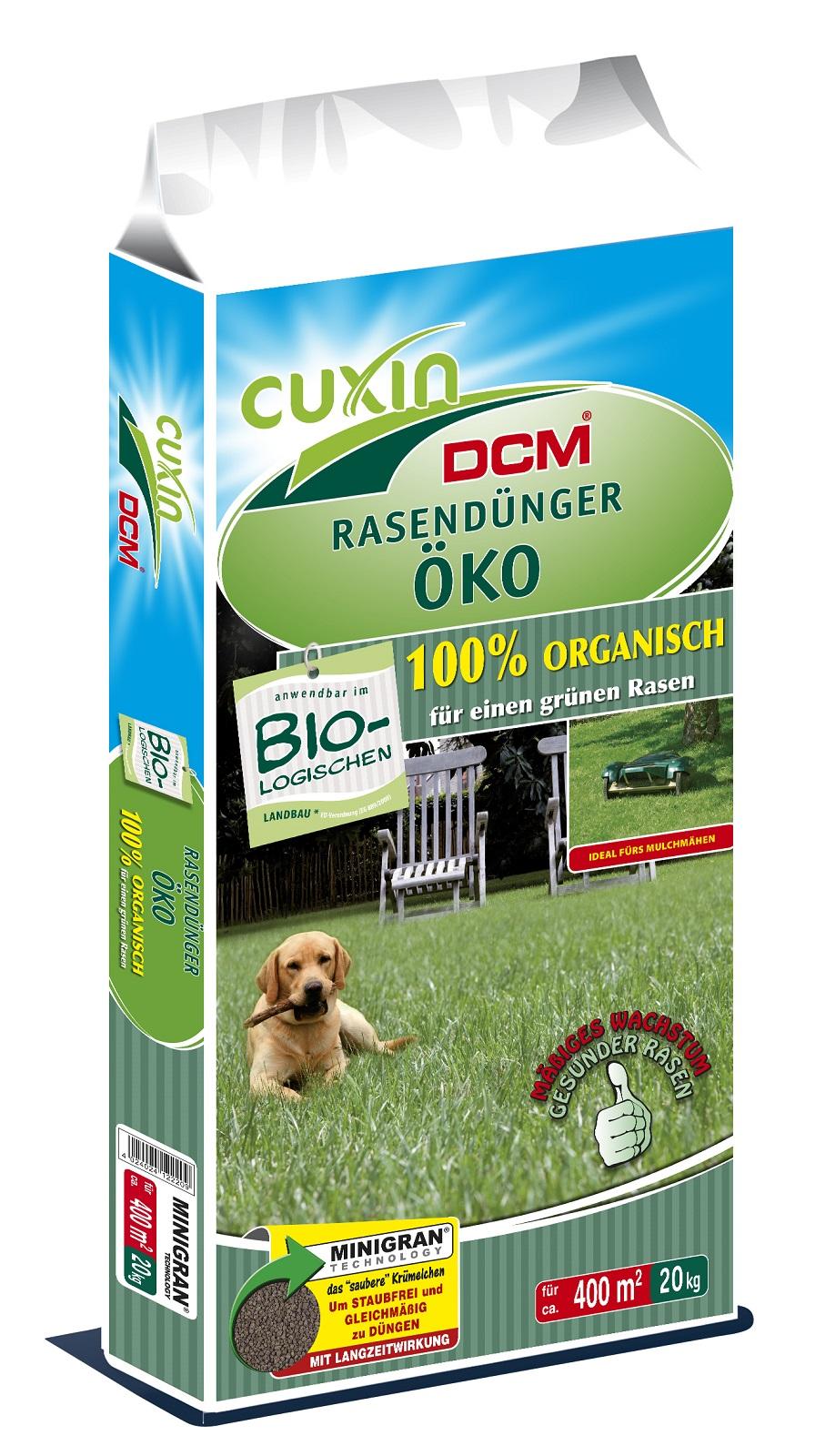 Cuxin Rasendünger ÖKO  20 kg Minigran