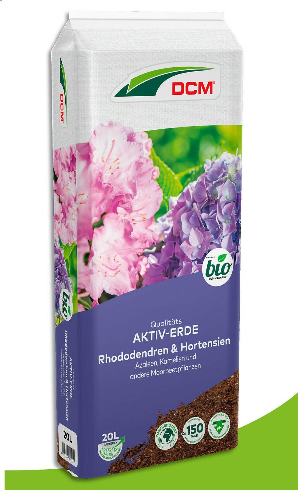Cuxin Aktiv Erde Rhododendron & Hortensien-Erde  20  l Pflanzerde Blumenerde