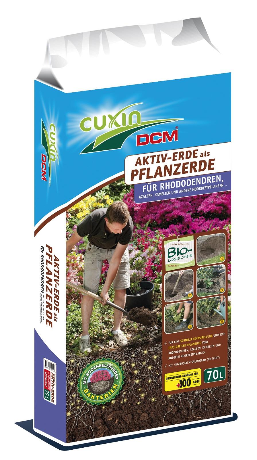 Cuxin Aktiv Erde Pflanzerde für Rohododenren 70 Liter