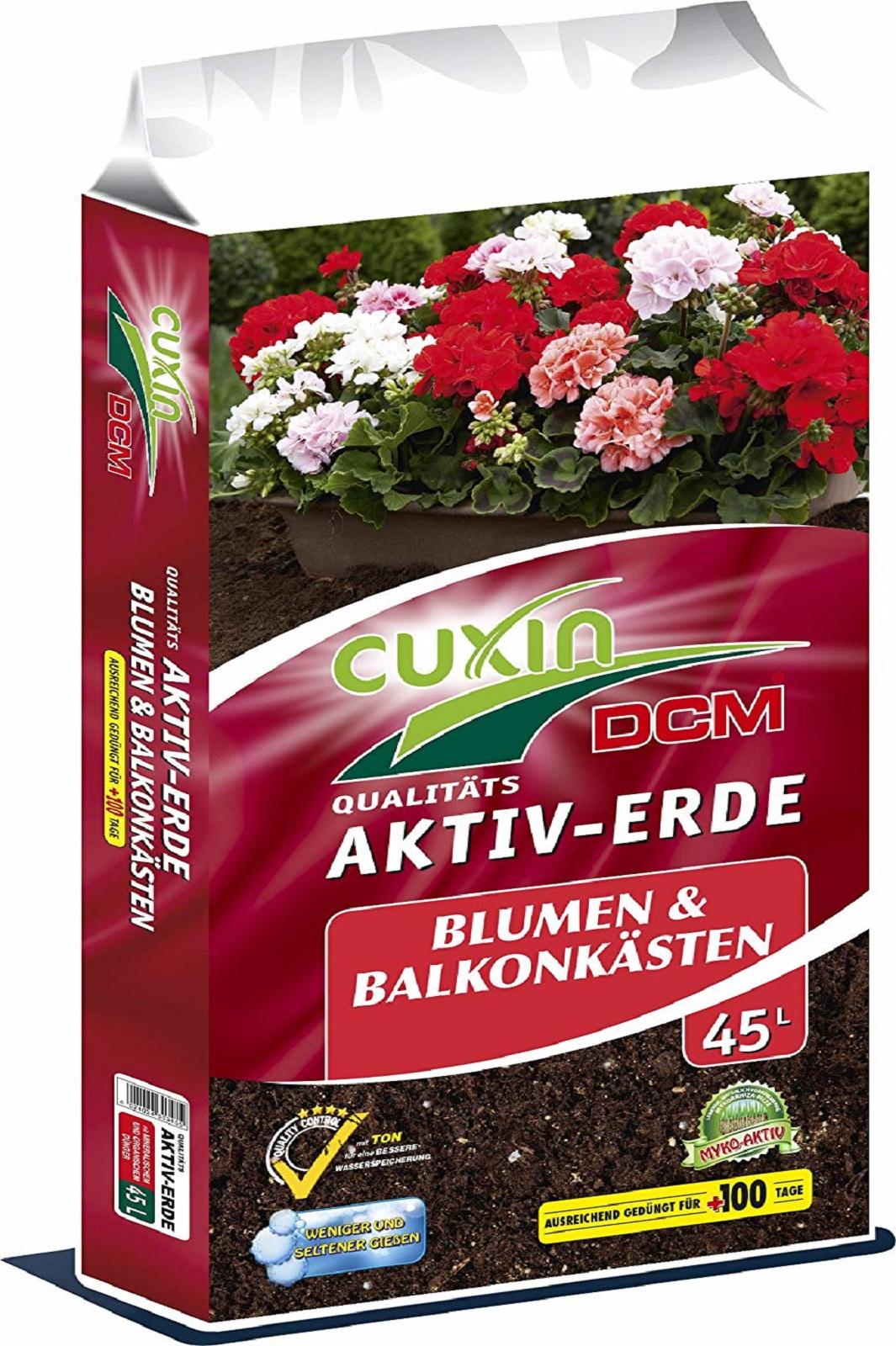 Cuxin DCM Aktiv-Erde Blumen und Balkonkästen Blumenerde 45 l