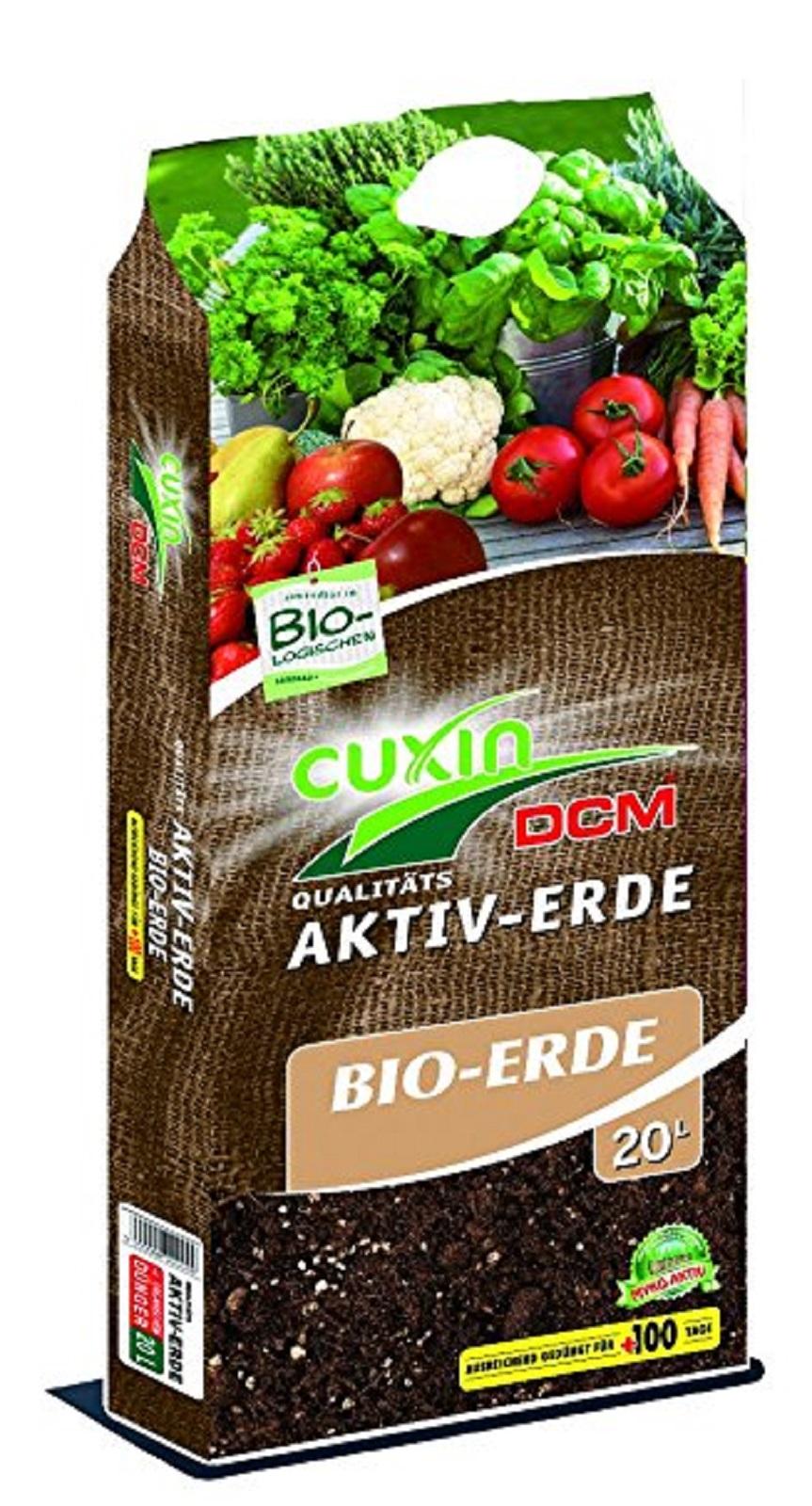 CUXIN DCM AKTIV-ERDE BIO-ERDE 20 l  für Gemüse Obst Kräutern Pflanzen