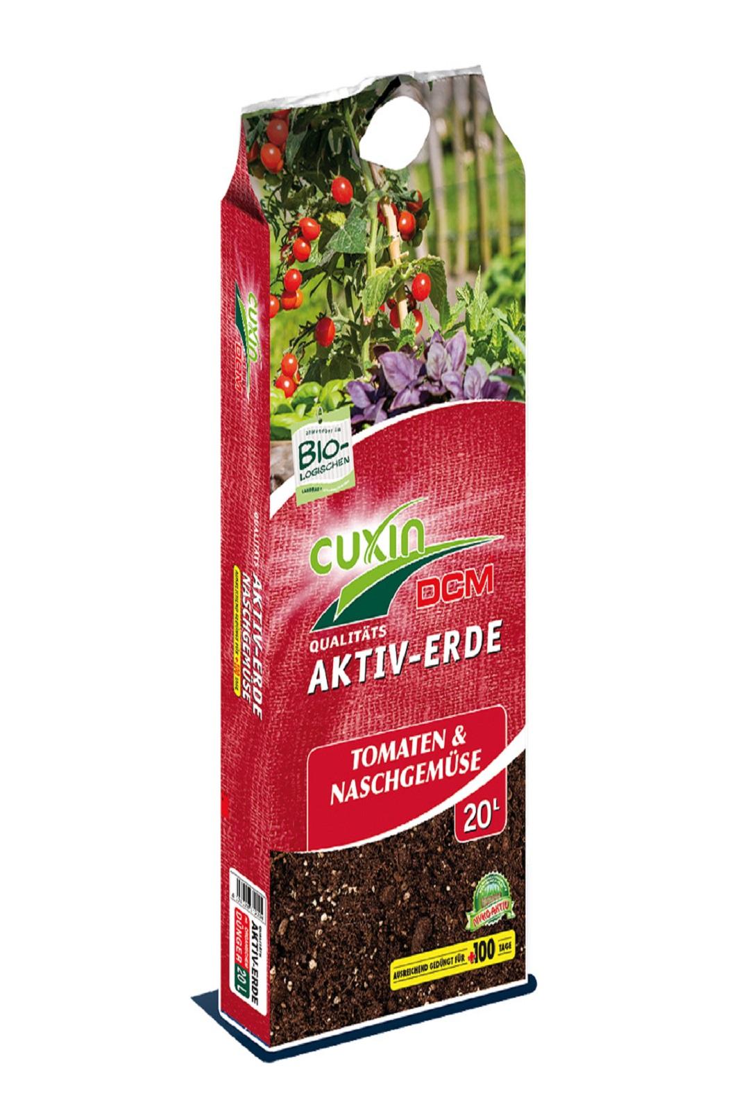 Cuxin DCM Aktiv Erde Tomaten und Naschgemüse Gemüseerde  20 l
