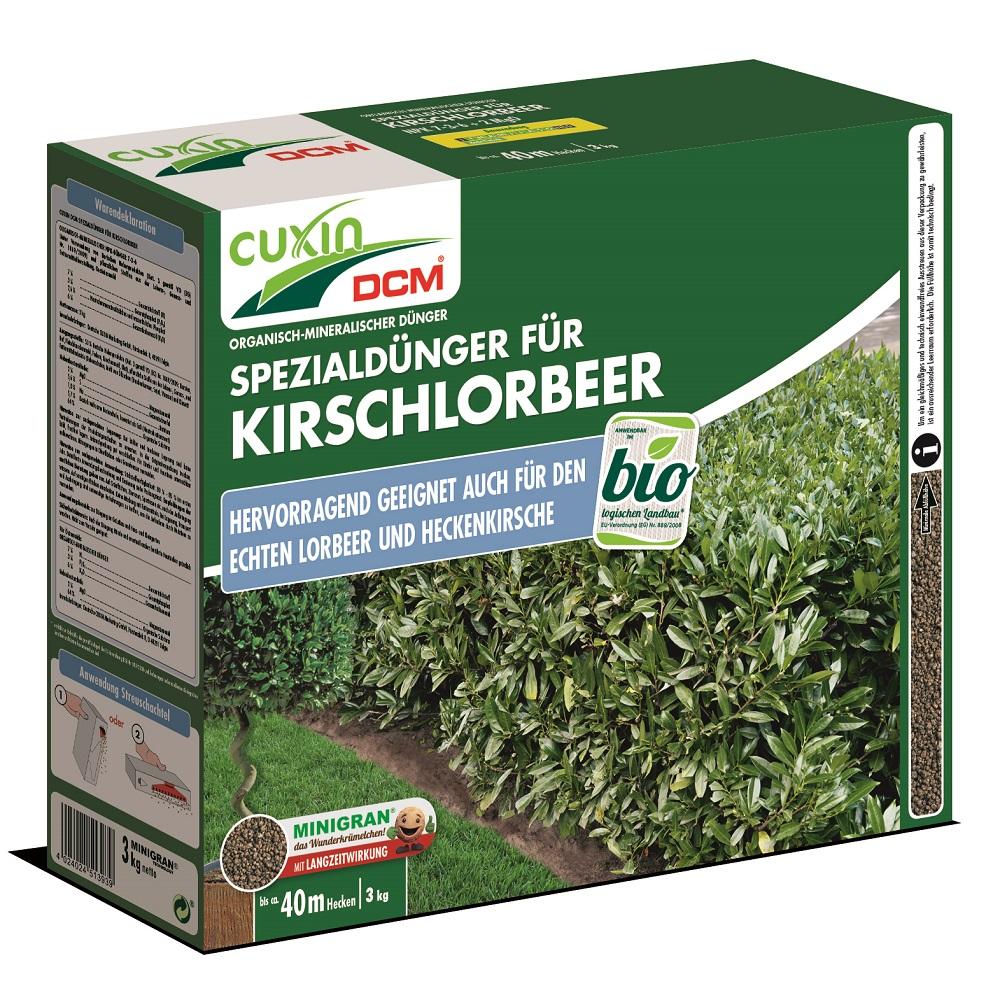 Cuxin Spezialdünger für Kirschlorbeer Dünger Heckenkirsche 3,0 kg