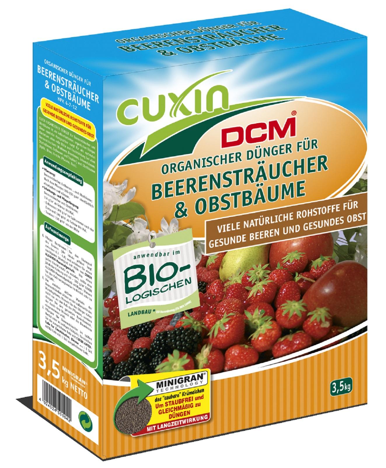 Cuxin  Dünger für Beerensträucher Obstbäume Beeren 3,5 kg organischer Dünger