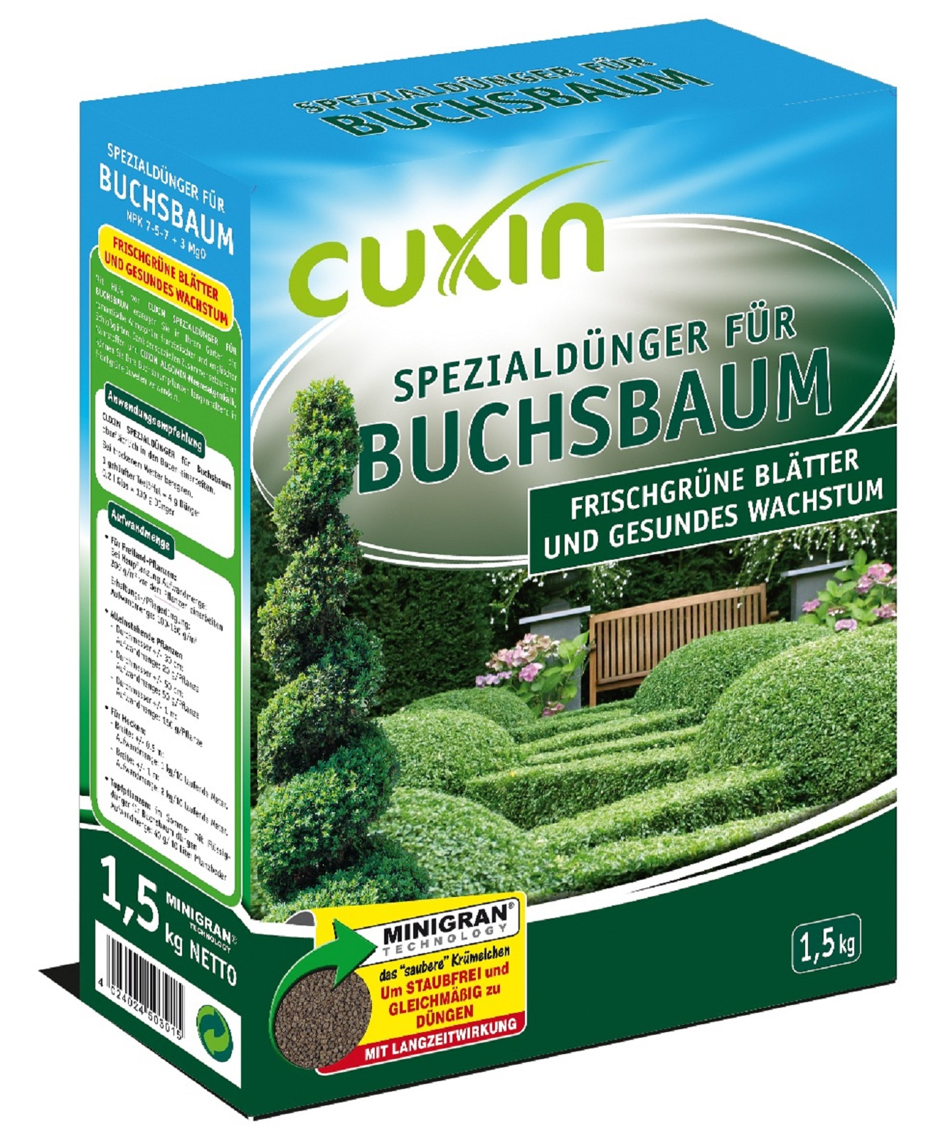 Cuxin Buchsbaum, Spezialdünger,1,50 kg Minigran, Dünger