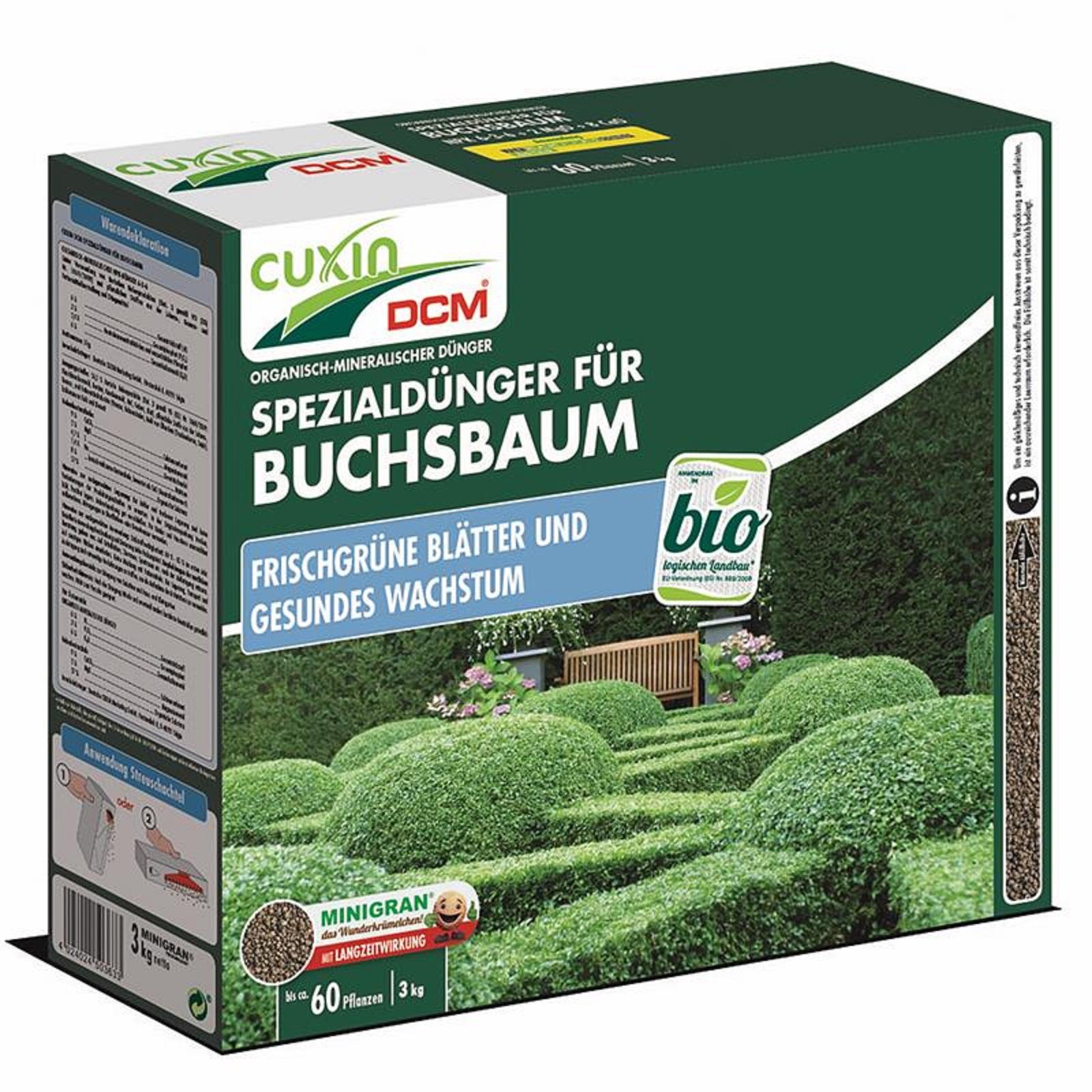 Cuxin Buchsbaum Spezialdünger 3 kg Minigran Dünger