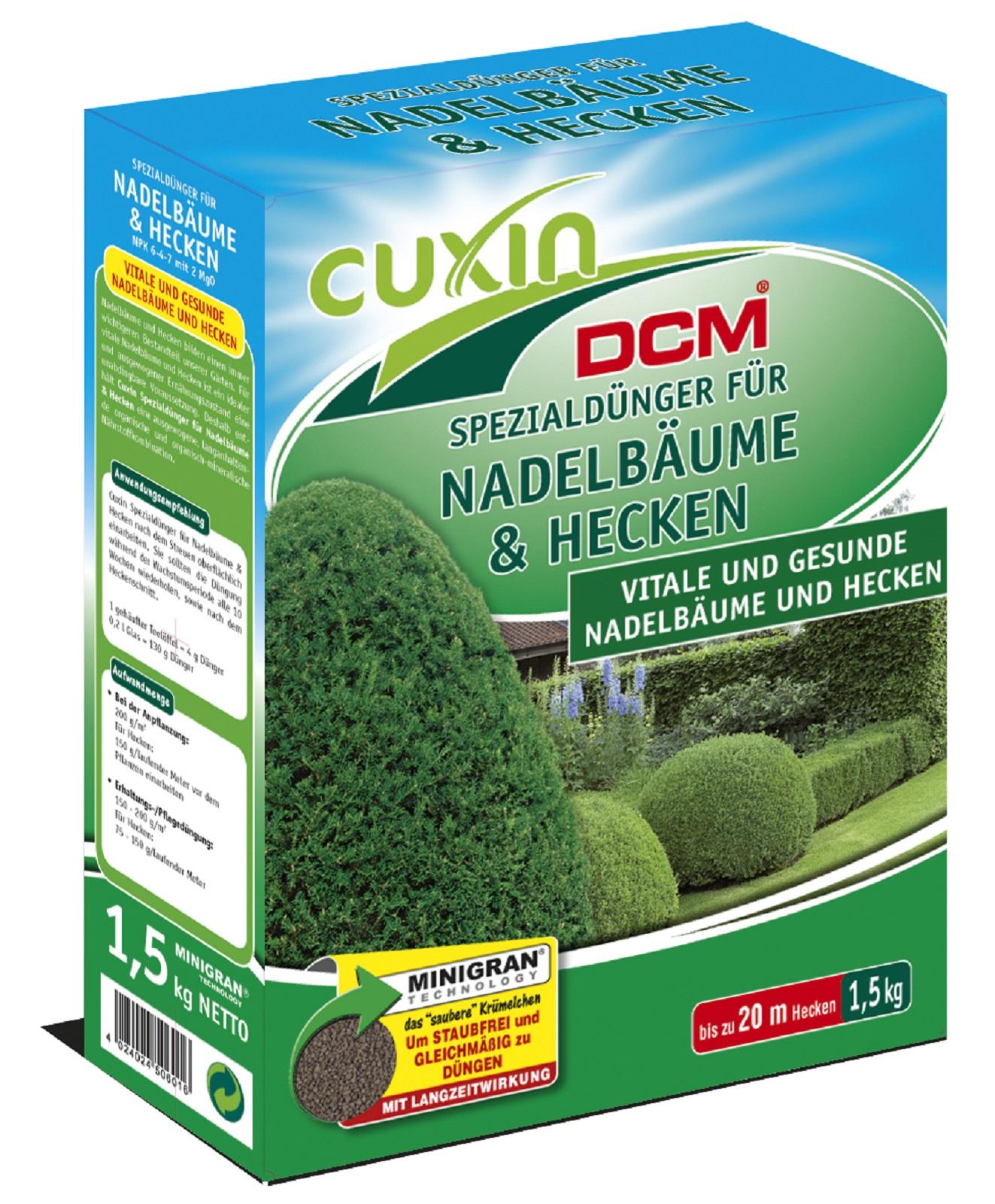 Cuxin f. Nadelbäume u. Hecken,1,5 kg, Dünger,organisch-mineralisch NPK Dünger