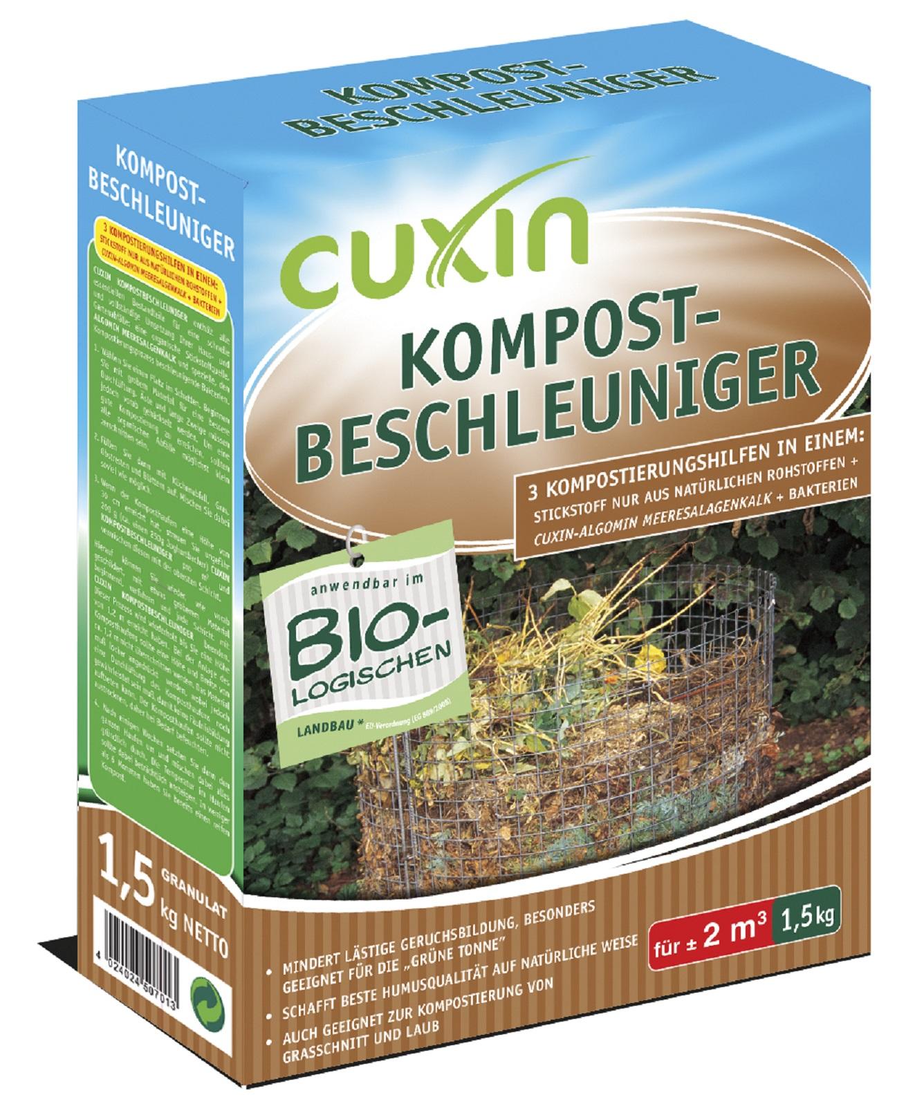 Cuxin Kompostbeschleuniger Kompost mindert Geruchsbildung Gelbe Tonne 1,5 kg