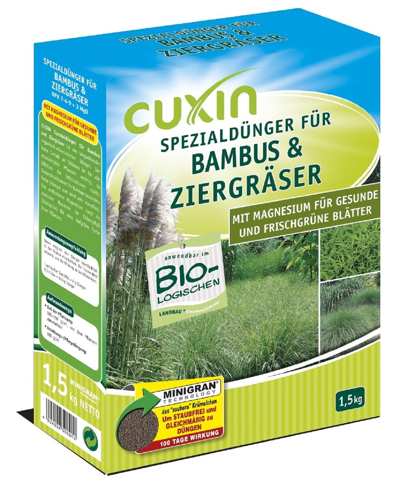 Cuxin Bambus & Ziergräserdünger, 1,50 kg Minigran,Dünger,Bambus,
