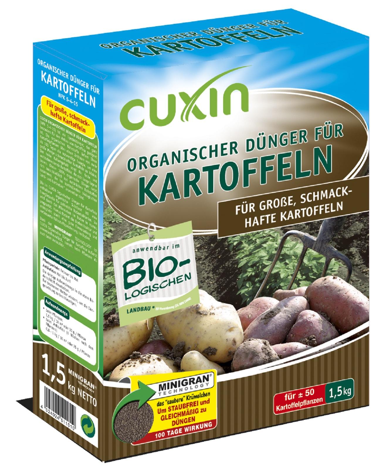 Cuxin  Dünger Organischer Dünger Kartoffeln 1,5 kg