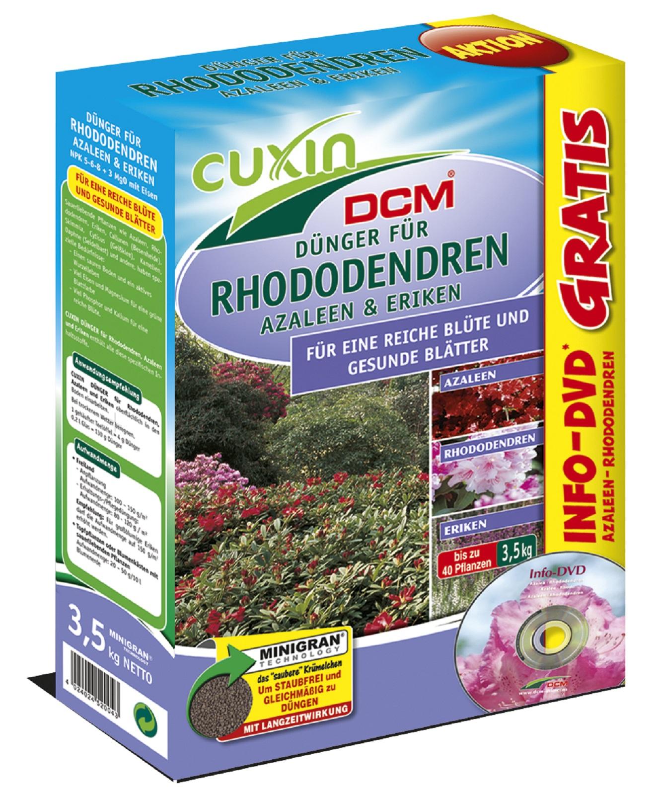 Cuxin Dünger f. Rhododendren,Azaleen,Eriken,3,5 kg, Dünger