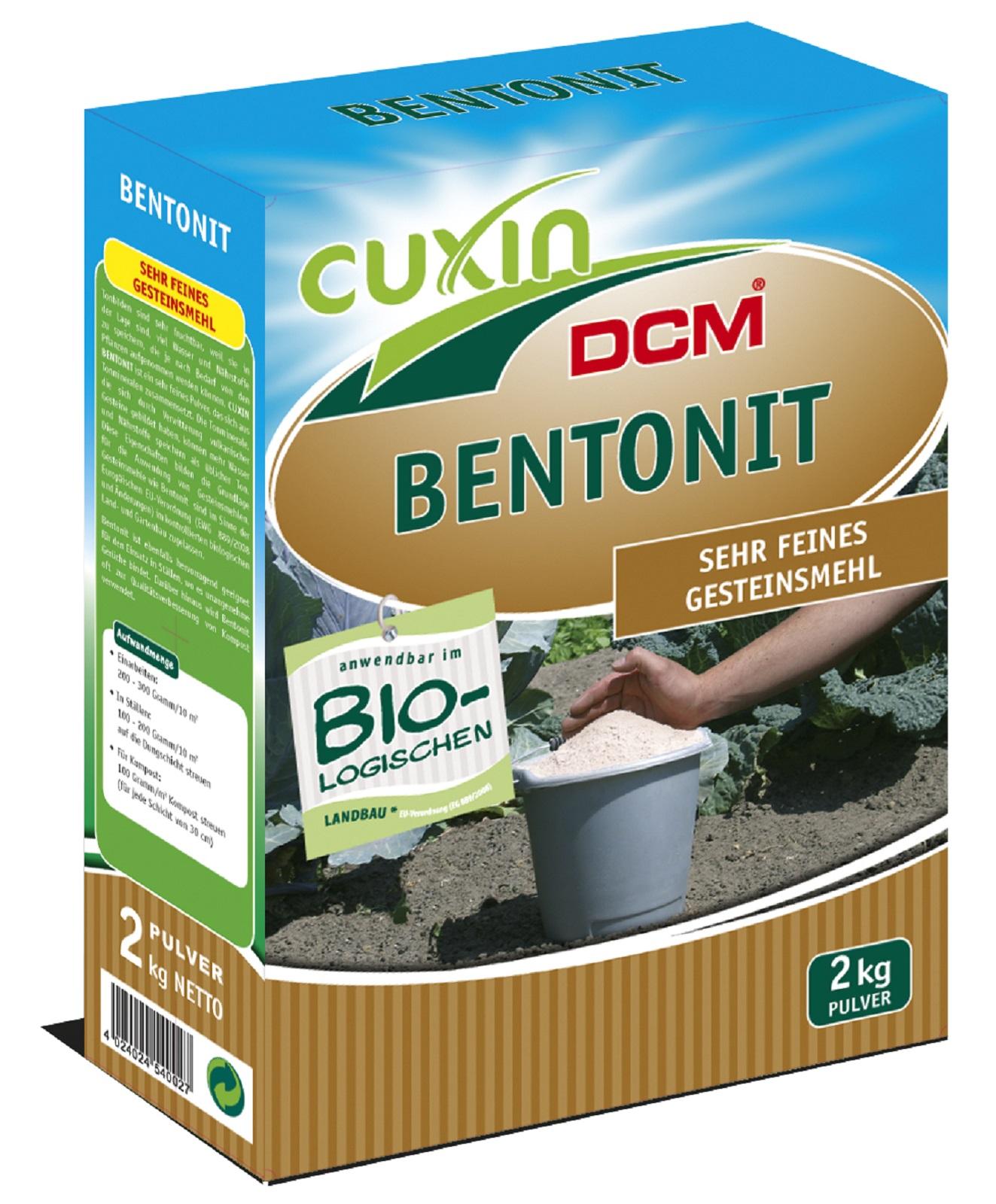 Cuxin Bentonit 2 kg Kompostierhilfe Garten  Nährstoffspeicher Bodenverbesserer