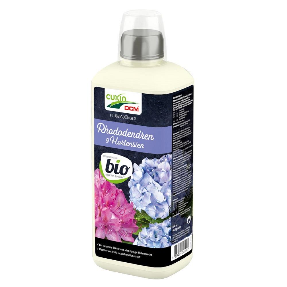 Cuxin DCM  Flüssigdünger  Rhododendren + Hortensien 800 ml Dünger flüssig Bio