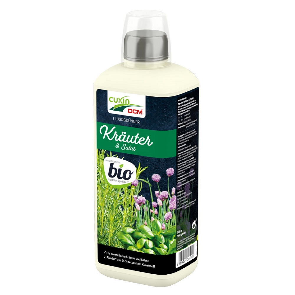 Cuxin DCM  Flüssigdünger Kräuter und Salat 800 ml Dünger flüssig Bio