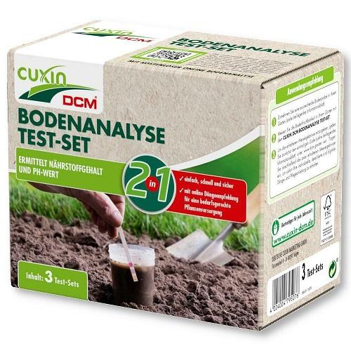 Cuxin Bodenanalyse Test-Set (3 Tests) 2in1 ermittelt Nährstoffgehalt & pH-Wert