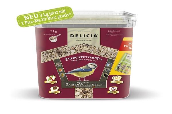 Delicia 3 kg Vogelfutter EnergiefutterMix Gartenvögel  Ganzjahresfutter