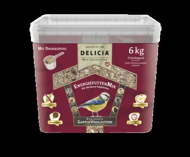 Delicia EnergiefutterMix  Vogelfutter für Gartenvögel Ganzjahresfutter 6 kg
