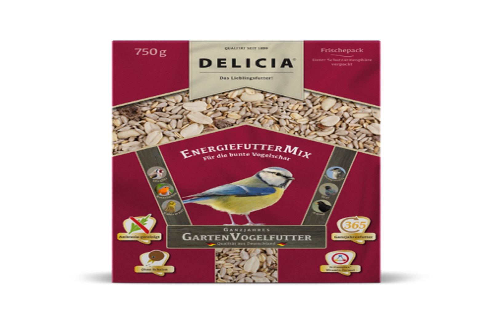 Delicia 750 g Vogelfutter EnergiefutterMix Gartenvögel  Ganzjahresfutter