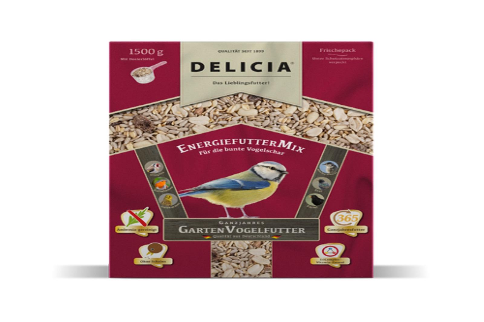 Delicia 1,5 kg Vogelfutter EnergiefutterMix Gartenvögel  Ganzjahresfutter