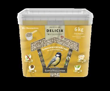 Delicia Sonnenblumenkerne Vogelfutter  Gartenvögel  Ganzjahresfutter 6 kg