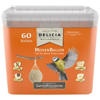 Delicia Meisenballen ganzjahres Garten Vogelfutter 60 Stück