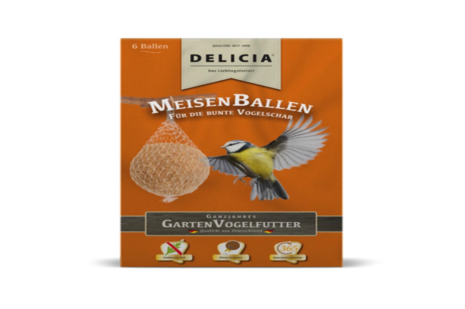 Delicia Meisenballen Vogelfutter Gartenvögel  Meisenknödel Winterfutter 6 Stück