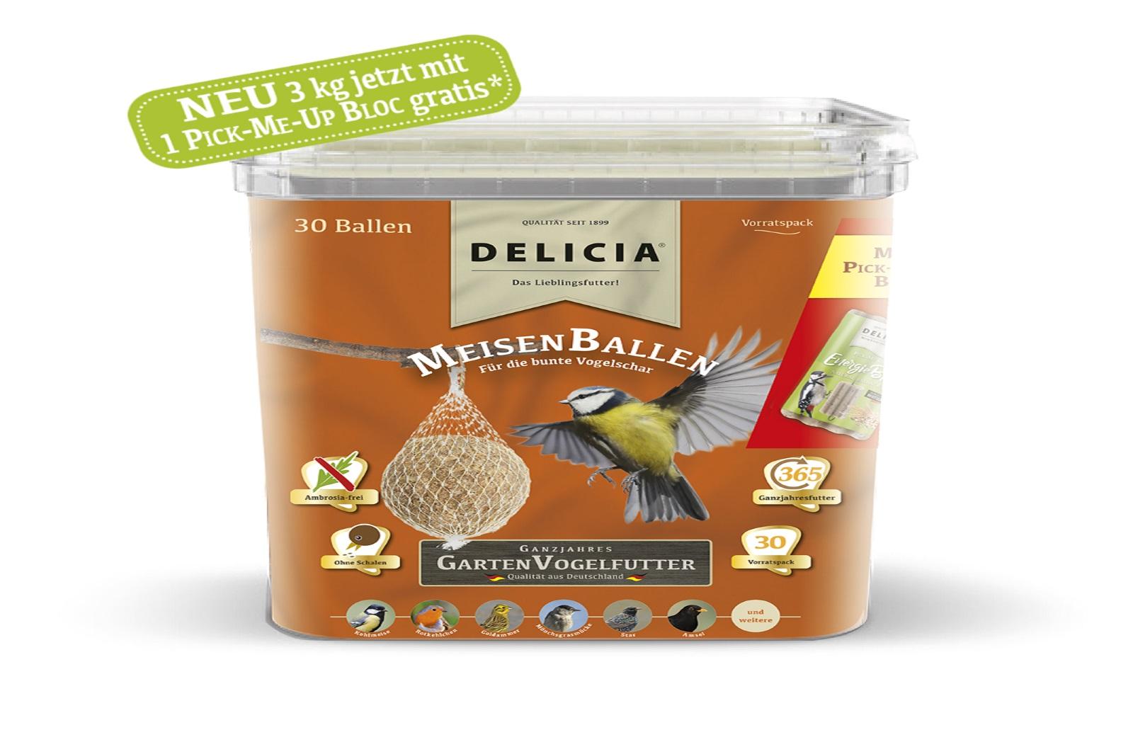 Delicia Meisenballen Vogelfutter Gartenvögel  Meisenknödel Winterfutter 30 Stück
