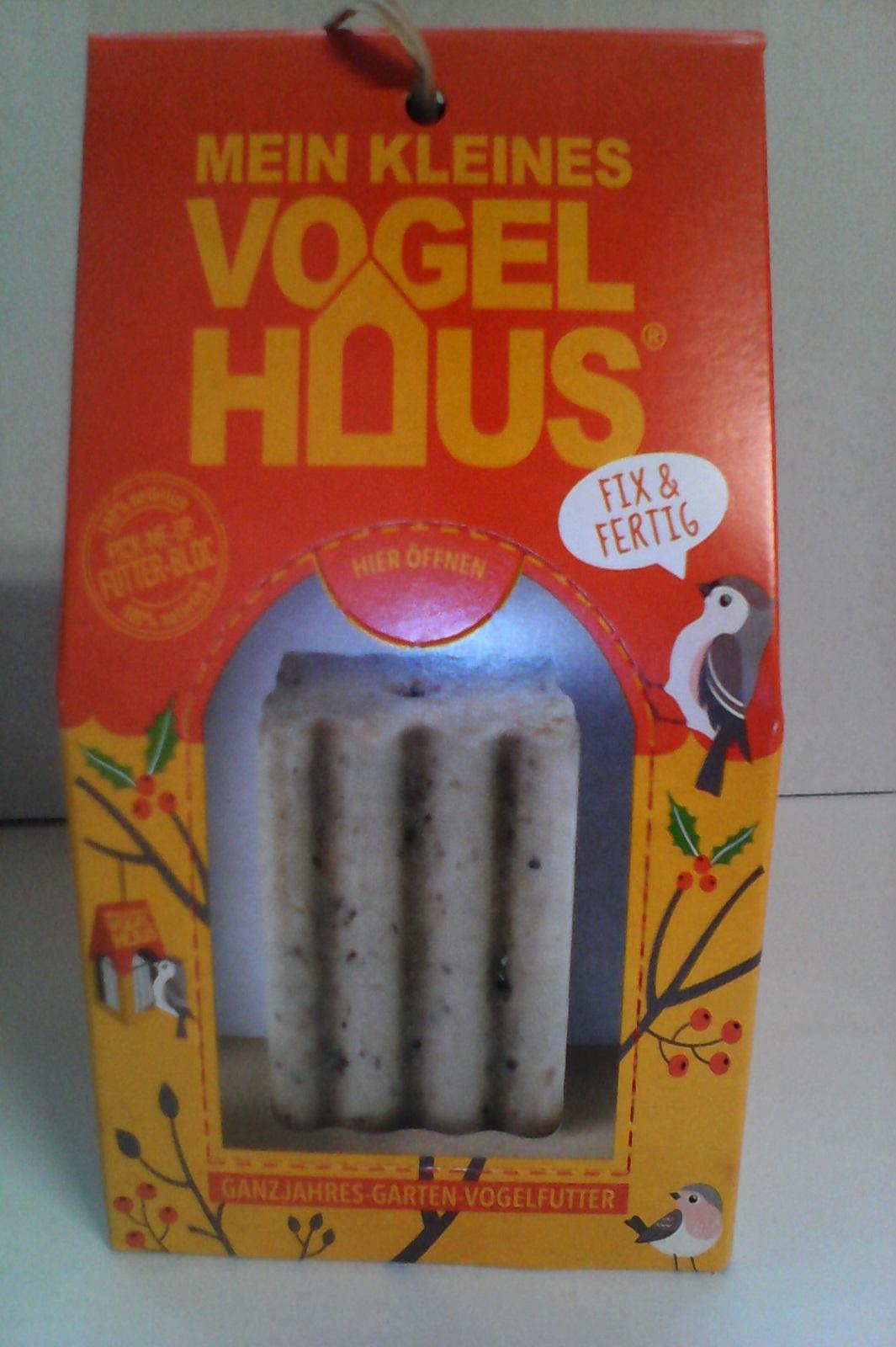 Delicia Vogelfutter Vogelhaus Gartenvögel ganzjährig Futterblock Haus orange