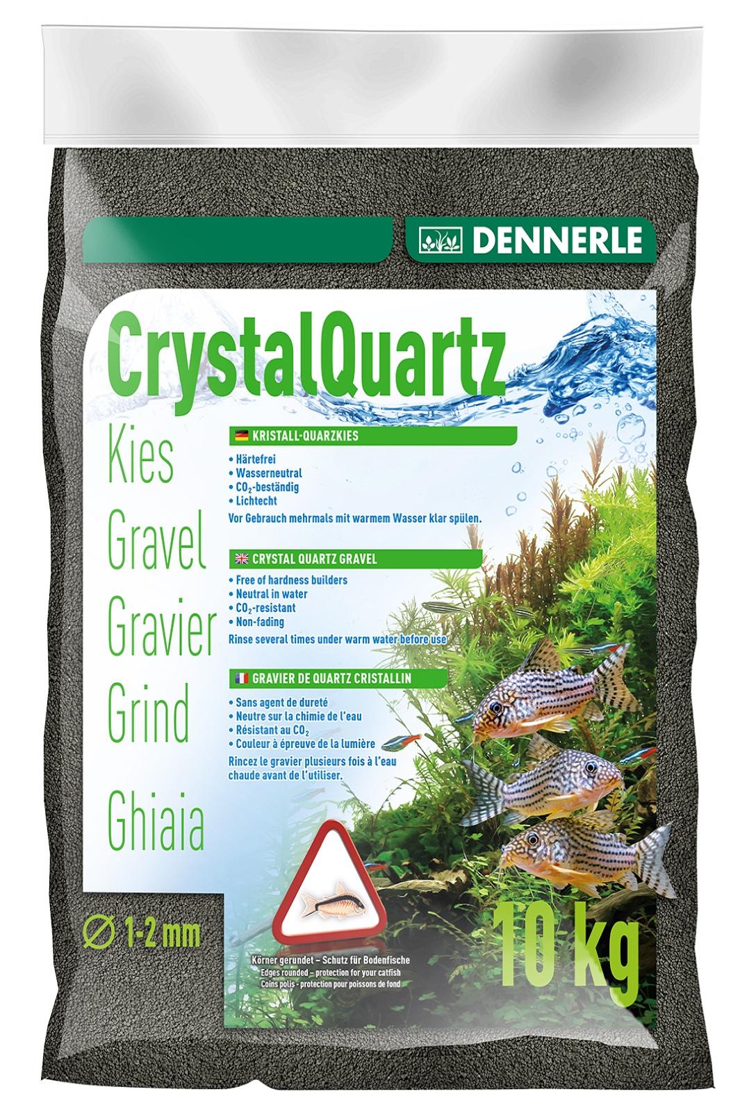 Dennerle Kristall-Quarzkies diamantschwarz 10 Kg