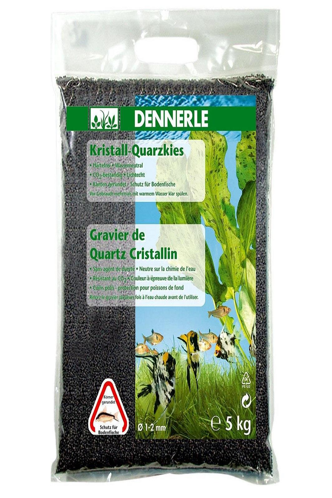 Dennerle Kristall-Quarzkies schiefergrau 5 Kg