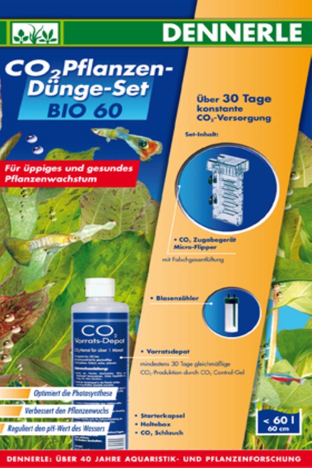 Dennerle  60 BIO  Komplett Set CO2 Pflanzen-Dünger