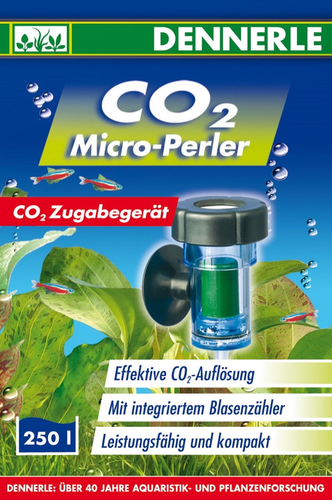 Dennerle CO2 Micro Perler zur CO2 Düngung für Aquarium bis 250 l