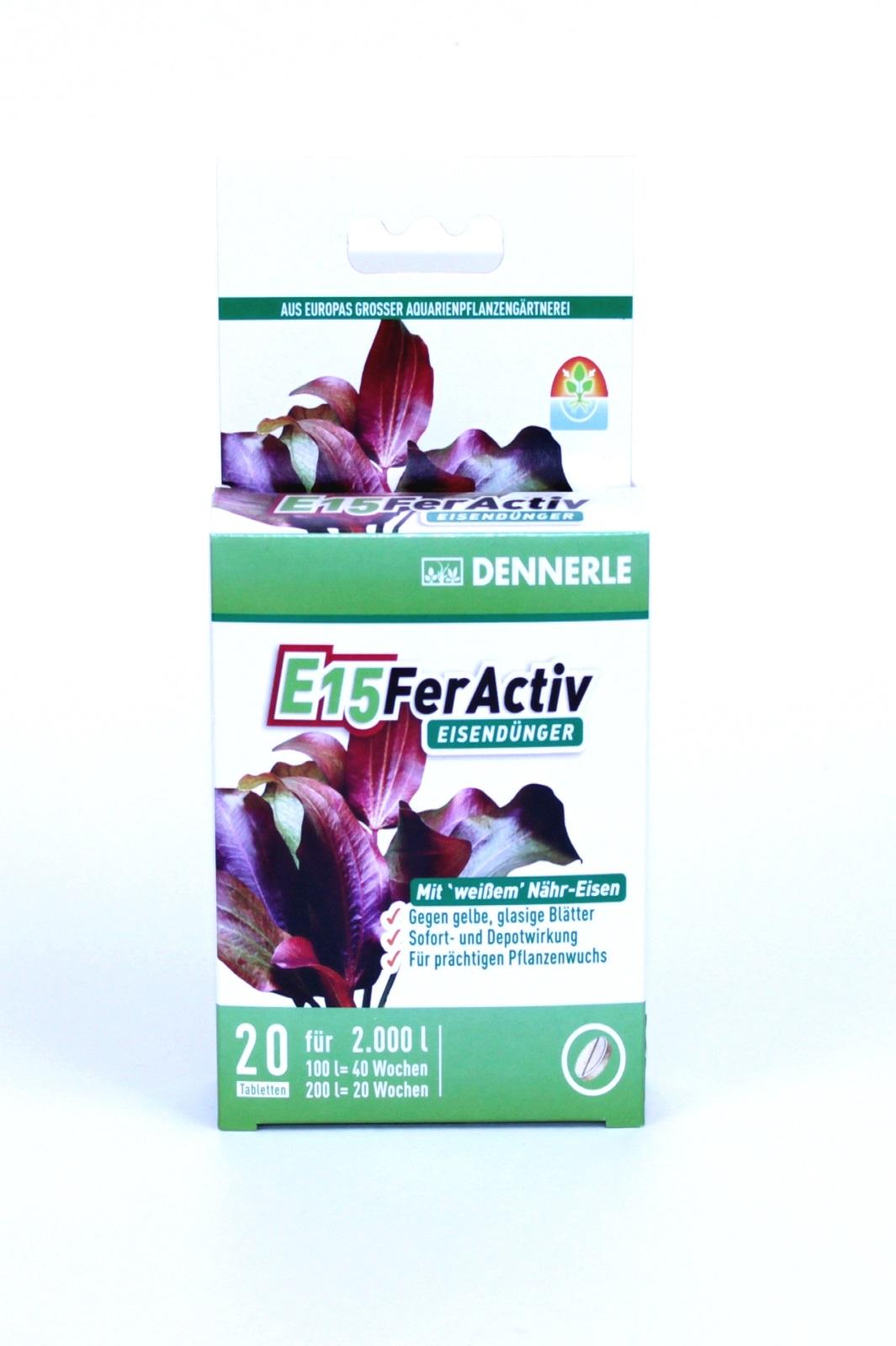 Dennerle E15 FerActiv Eisendünger für Aquarienpflanzen 20 ST