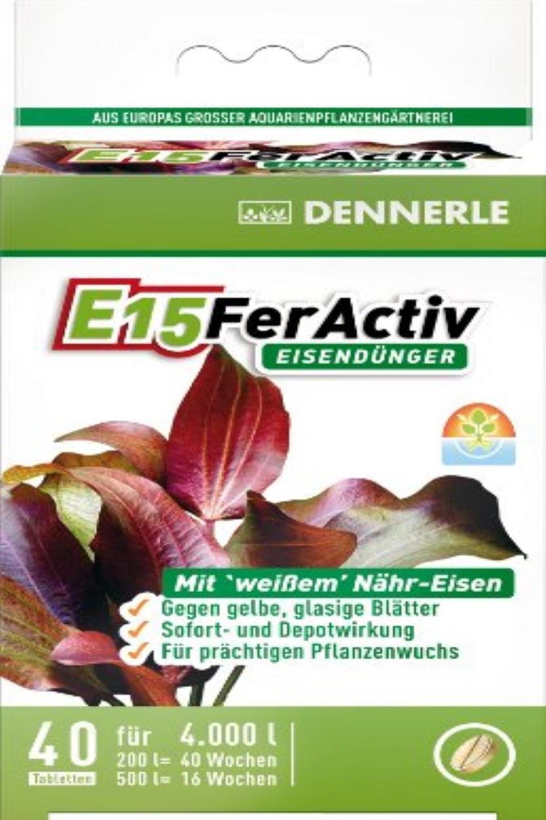 Dennerle E15 FerActiv Eisendünger für Aquarienpflanzen 40 St
