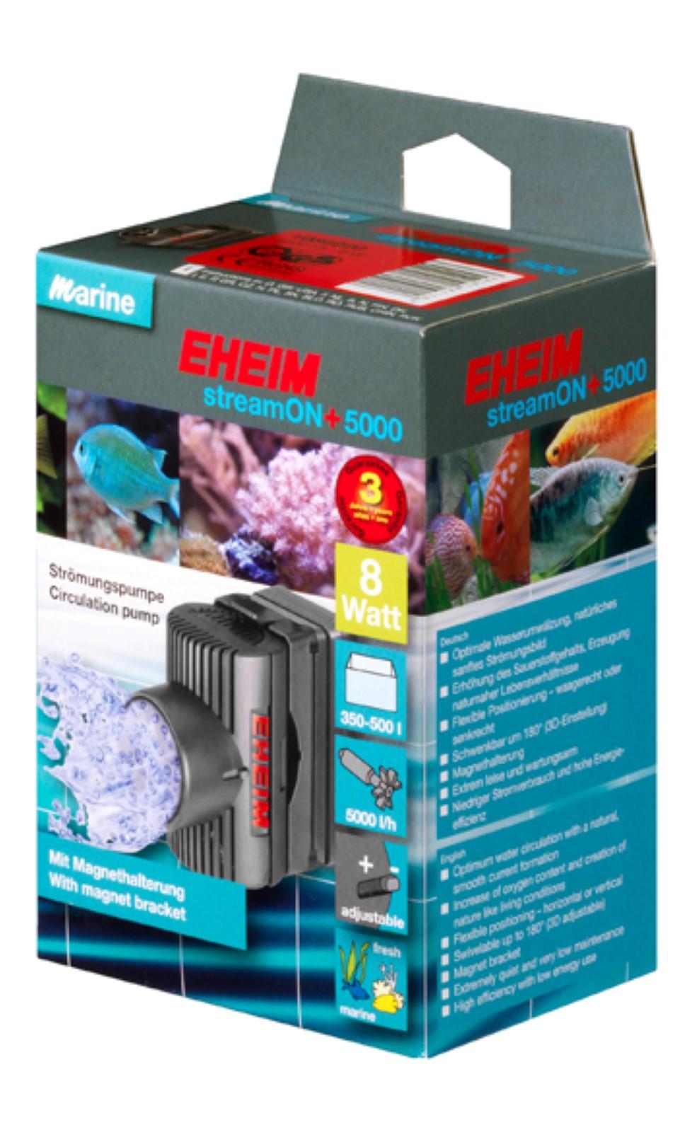 Eheim  Stream ON+ 5000 Pumpe Strömungspumpe  350-500 l für Aquarium