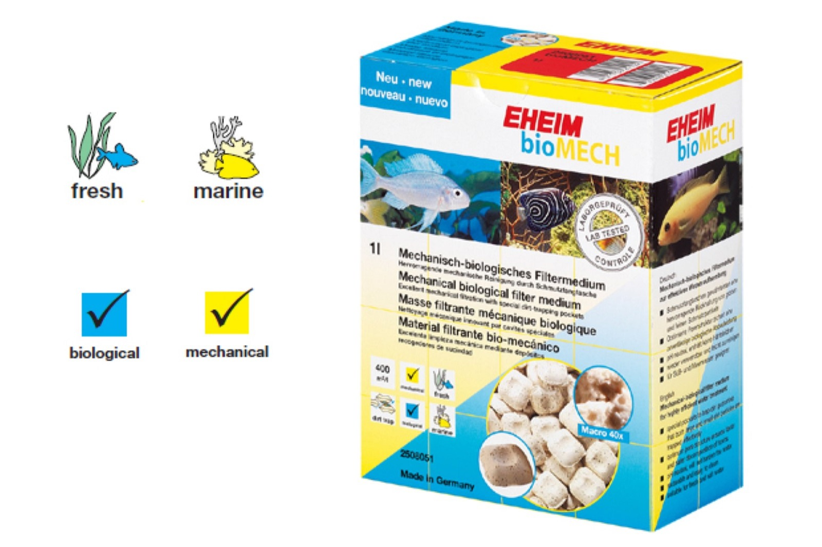 Eheim bioMech mechanisch-biologisches Filtermedium 1 l   Aquarium