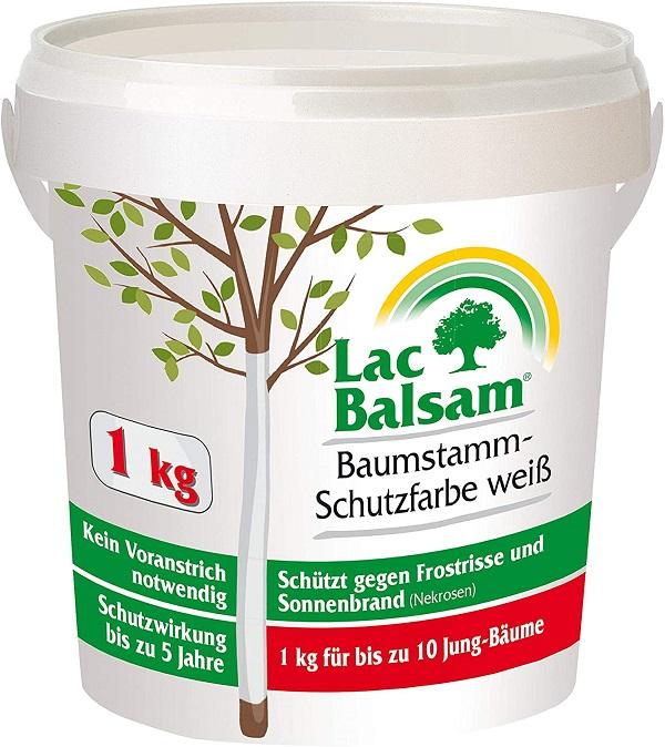 Etisso Lac Balsam Baumstamm Schutzfarbe weiß Baumpflege Weißanstrich 1  kg