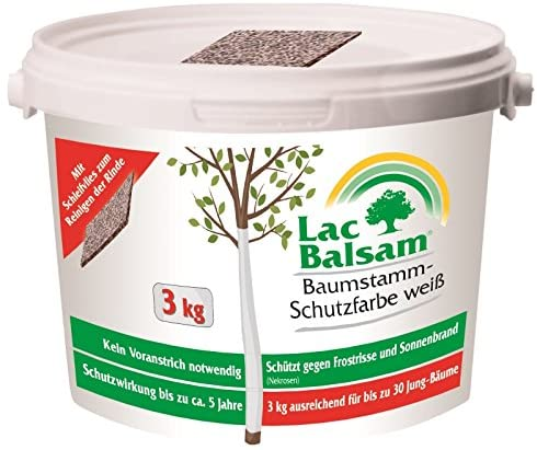 Etisso Lac Balsam Baumstamm Schutzfarbe weiß 3 kg Baumpflege Weißanstrich