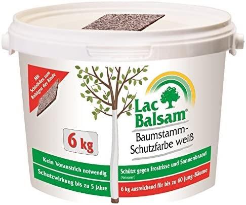 Etisso Lac Balsam Baumstamm Schutzfarbe weiß 6 kg Baumpflege Weißanstrich